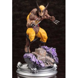 Estatua Lobezno Wolverine Brown Costume Danger Room Sessions Marvel Comics Fine Art 20 cm 1/6