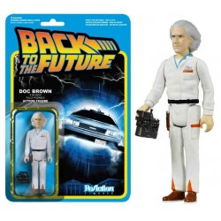 Figura Doc Brown Regreso Al Futuro 10 cm Reaction Funko
