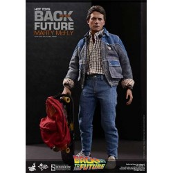 Figura Marty McFly Regreso al Futuro Movie Masterpiece 28 cm 1/6 Sideshow HOT TOYS