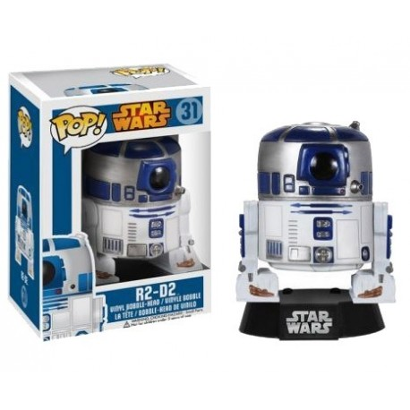 Figura R2-D2 de Star Wars Cabezon Pop Funko 10 cm