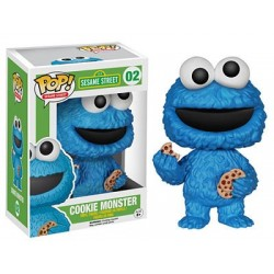 Figura Monstruo de Las Galletas Cookie Monster de Barrio Sesamo Cabezon Pop Funko 10 cm
