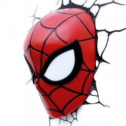 Lampara Spiderman 3D Led Mask
