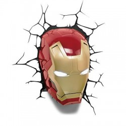 Lampara Iron Man 3D Led Mask