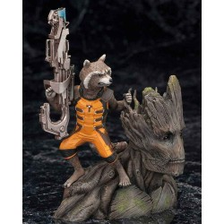 Estatua Guardianes de la Galaxia - Guardians of the Galaxy Kotobukiya ARTFX+ 1/10 Rocket Raccoon 14 cm