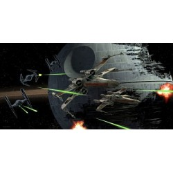 Poster de Vidrio Tie Fighter vs X-Wing Star Wars 50 x 25 cm