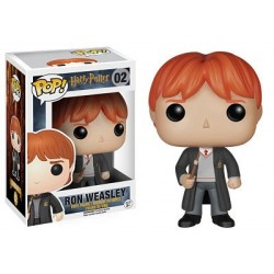 Figura Ron Weasley de Harry Potter Cabezon Pop Funko 10 cm