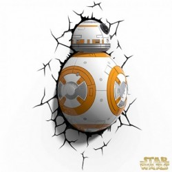 Lampara Pared BB-8 3D Led Fist
