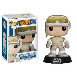 Figura Luke Skywalker Hoth de Star Wars Cabezon Pop Funko 10 cm