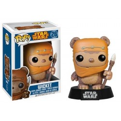 Figura Wicket Ework de Star Wars Cabezon Pop Funko 10 cm