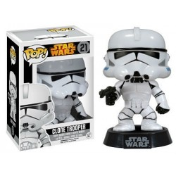 Figura Clone Trooper de Star Wars Cabezon Pop Funko 10 cm
