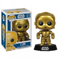 Figura C-3PO de Star Wars Cabezon Pop Funko 10 cm