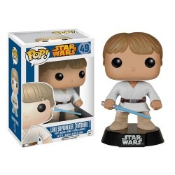Figura Luke Skywalker Tatooine de Star Wars Cabezon Pop Funko 10 cm