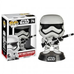 Figura Stormtrooper Blaster Edition First Order de Star Wars Episodio VII Cabezon Pop Funko 10 cm