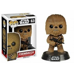 Figura Chewbacca de Star Wars Episodio VII Cabezon Pop Funko 10 cm