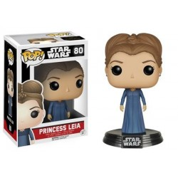 Figura Princesa Leia de Star Wars Episodio VII Cabezon Pop Funko 10 cm