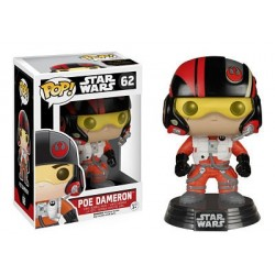 Figura Poe Dameron de Star Wars Episodio VII Cabezon Pop Funko 10 cm