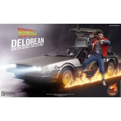Vehículo DeLorean Time Machine Movie Masterpiece 1/6 72 cm Regreso al Futuro Sideshow HOT TOYS