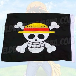 Bandera Calavera One Piece Luffy - 80 cm x 55 cm