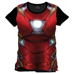 Camiseta Iron Man Armor Armadura Civil War