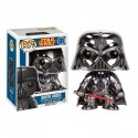 Figura Darth Vader Cromado Star Wars Cabezon Pop Funko 10 cm