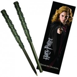 Set Hermione Granger Boligrafo Varita mas Marcapaginas - Harry Potter Noble Collection