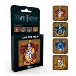 Pack 4 Posavasos Casas de Hogwarts Harry Potter