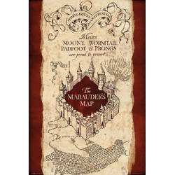 Poster Mapa Del Merodeador Marauders Map 61 x 91 cm Harry Potter