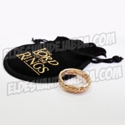 Anillo Unico de El Señor de los Anillos En Relieve con Saquito- The Lord Of The Ring