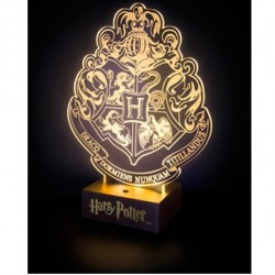 LAMPARA HARRY POTTER ESCUDO HOGWARTS LED