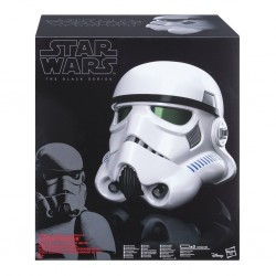 Casco Completo Stormtrooper Con Distorsionador de Voz Black Series Hasbro Star Wars Episode IV Helmet