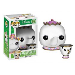 Figura Señora Potts y Chip La Bella Y La Bestia Funko Pop