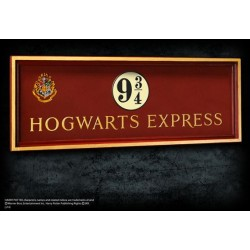 Replica Cartel Anden 9 3/4 Hogwarts Express Harry Potter