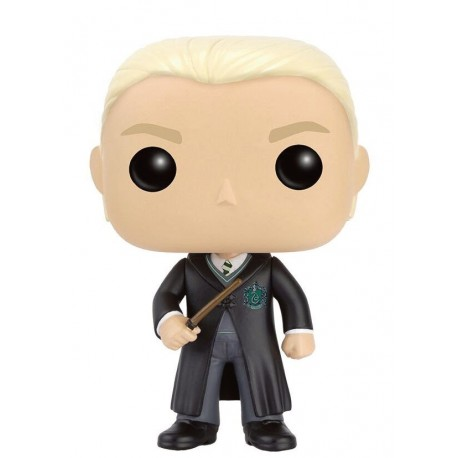 Figura Draco Malfoy de Harry Potter Cabezon Pop Funko 10 cm