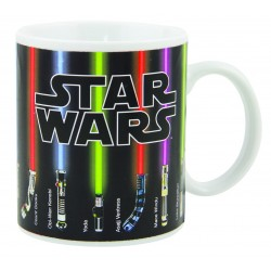 Taza Sables Laser Star Wars Sensitiva al Calor Lightsaber