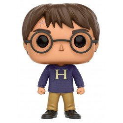 Figura Harry Potter Con Sweater Cabezon Pop Funko 10 cm