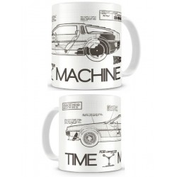 Taza Delorean Timemachine Regreso Al Futuro