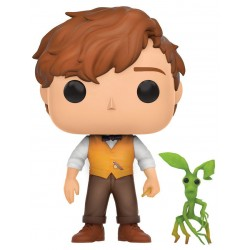 Figura Newt Scamander Y Pickett Animales Fantasticos y Donde Encontrarlos Harry Potter Cabezon Pop Funko 10 cm