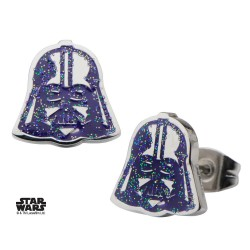 Pendientes Darth Vader Purple Enamel Star Wars