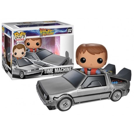 Figura Marty McFly con Delorean Regreso al Futuro Funko Pop