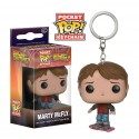 Llavero Marty McFly en Patin on Hoverboard Regreso al Futuro Funko Pop Pocket
