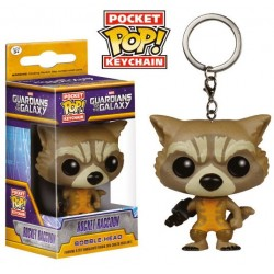 Llavero Rocket Raccoon Guardianes de La Galaxia Funko Pop Pocket