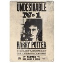 Placa Metalica Undesirable Number 1 Harry Potter