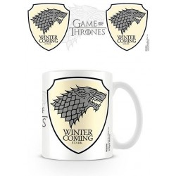 Taza Casa Stark Winter Is Coming Juego de Tronos Games Of Thrones