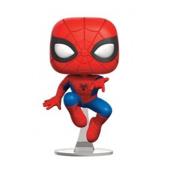 Figura Spiderman Leaping Cabezon Pop Funko 10 cm