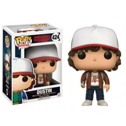 Figura Dustin con Chaqueta Marron de Stranger Things Pop Funko 10 cm