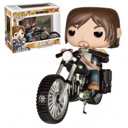 Figura Daryl Dixon con Chopper Moto de The Walking Dead Pop Funko 12 cm