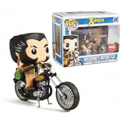 Figura Logan con Moto Lobezno X-Men Cabezon Pop Funko 10 cm