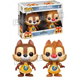 Pack 2 Figuras Chip and Dale de Kingdom Hearts Pop Funko 10 cm