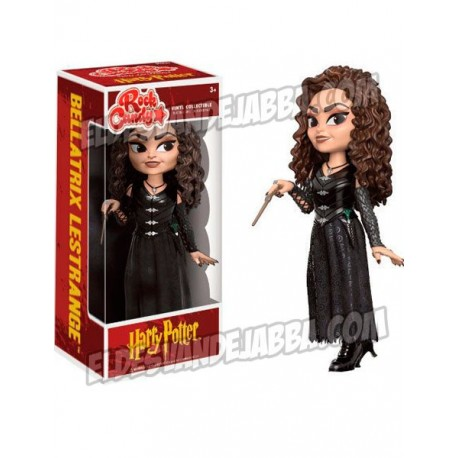Figura Bellatrix Lestrange Rock Candy de Harry Potter Cabezon Pop Funko 13 cm