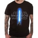 Camiseta Star Wars Sable Laser y Logo